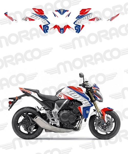 Kit Deco UP MAXIMIZE HONDA CB1000R 08->16 rouge-bl