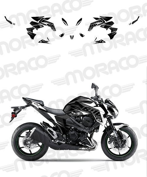 Kit Deco UP MAXIMIZE KAWASAKI Z800 13->16 noir-bla