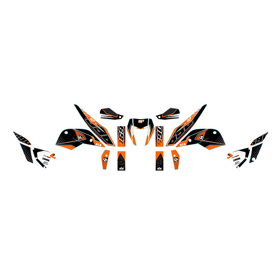 Kit Deco UP MAXIMIZE KTM DUKE 690 10->15 noir-oran