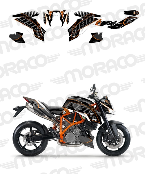 Kit Deco UP MAXIMIZE KTM SUPER DUKE 990 10->15 noi