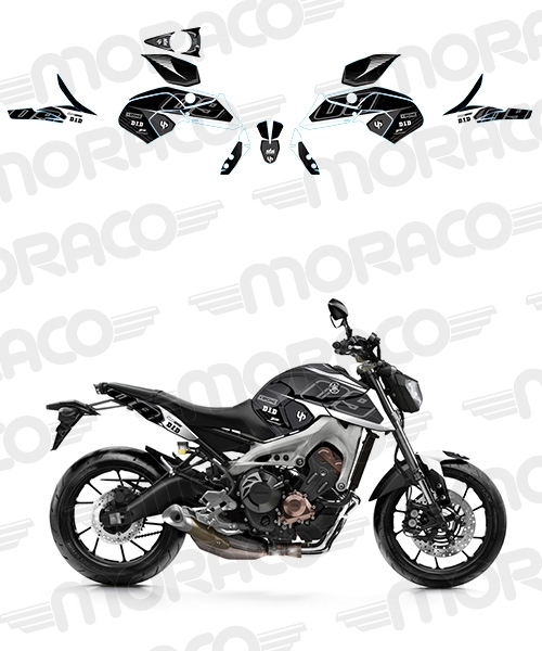 Kit Deco UP MAXIMIZE YAMAHA MT09 15->17 noir-blanc