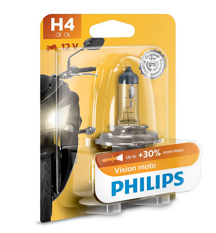 Lampe Philips - H4 - Vision Moto