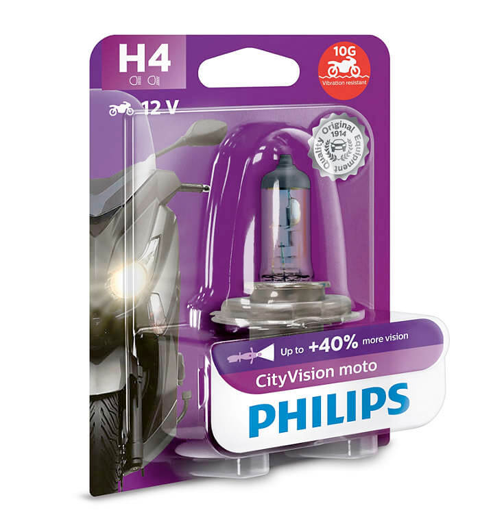 Lampe Philips - H4 - City Moto Vision