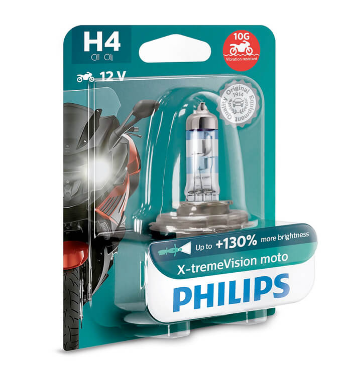 Lampe Philips - H4 - X-Treme Vision Moto