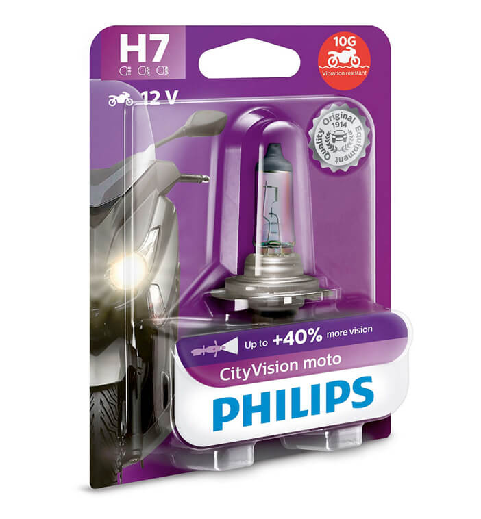 Lampe Philips - H7 - City Moto Vision
