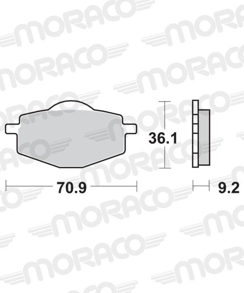 Plaquettes de frein moto SBS 575HF