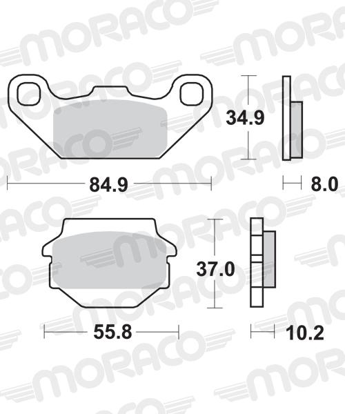 Plaquettes de frein moto SBS 591SI