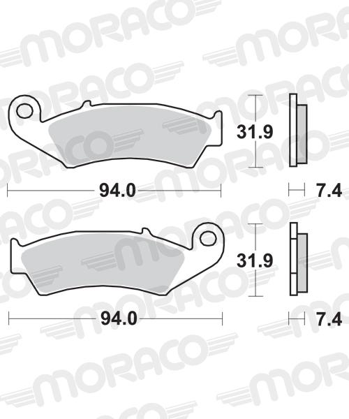Plaquettes de frein moto SBS 603SI