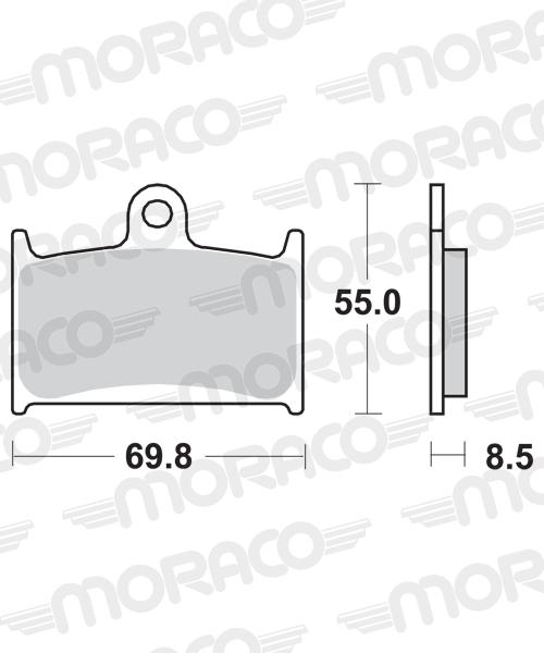 Plaquettes de frein moto SBS 624HF
