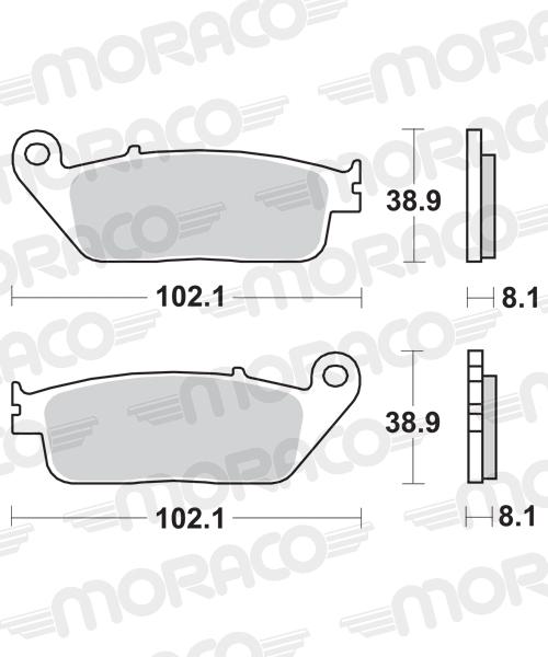 Plaquettes de frein moto SBS 627HS