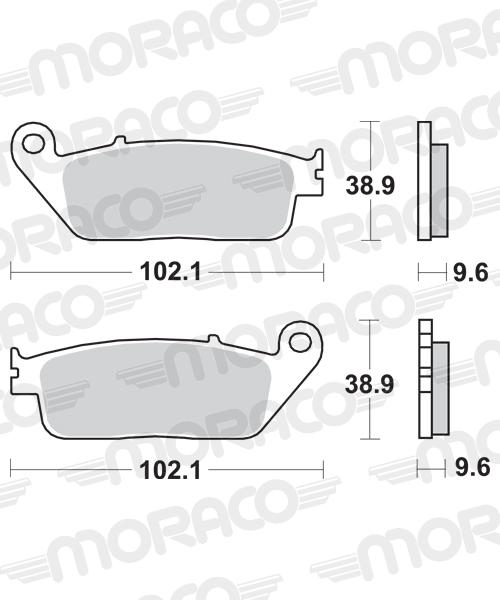 Plaquettes de frein moto SBS 630HF