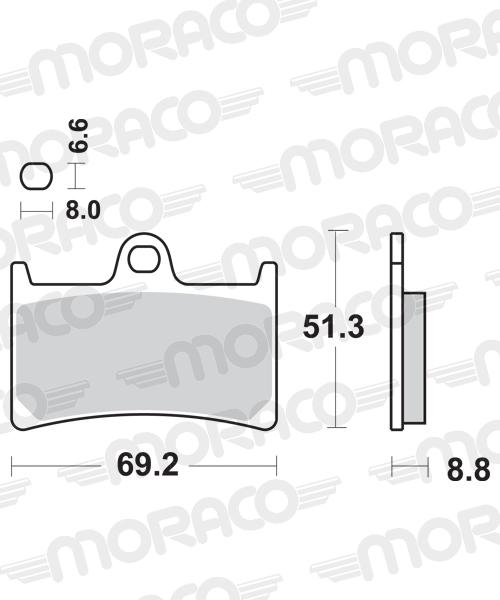 Plaquettes de frein moto SBS 634HS