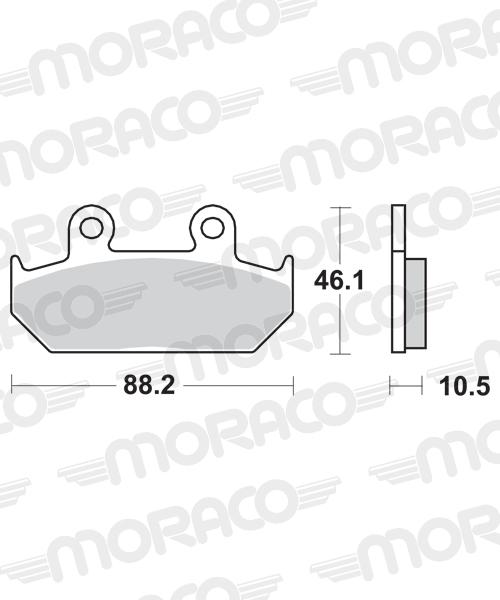 Plaquettes de frein moto SBS 647HF