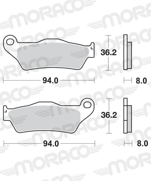 Plaquettes de frein moto SBS 671HF