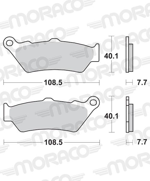 Plaquettes de frein moto SBS 674HF