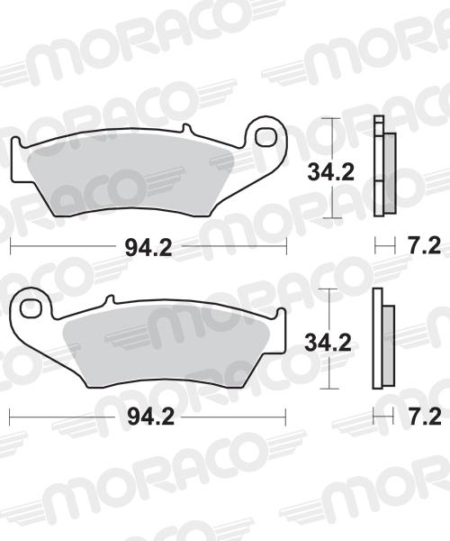 Plaquettes de frein moto SBS 694SI