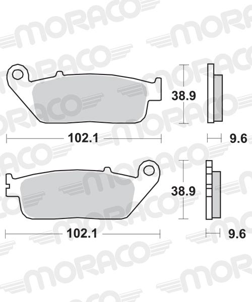 Plaquettes de frein moto SBS 700HS