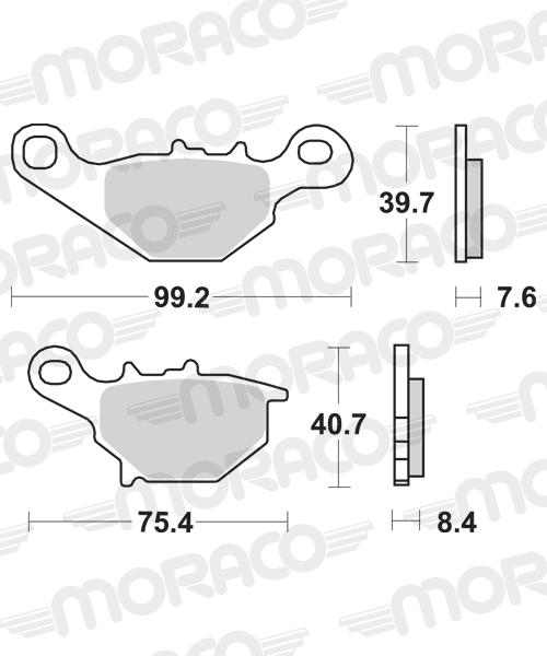 Plaquettes de frein moto SBS 702SI