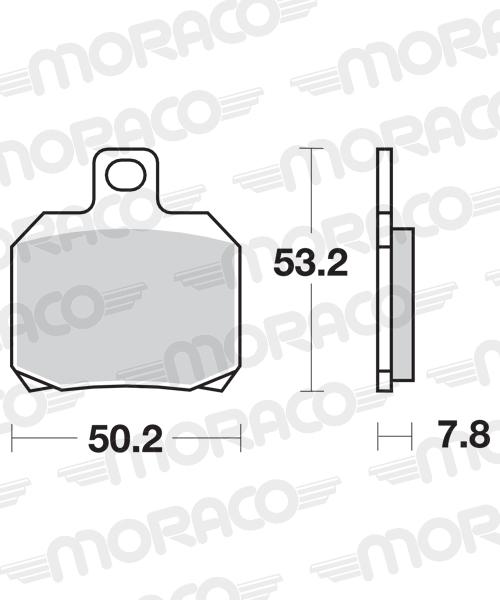 Plaquettes de frein moto SBS 730HF
