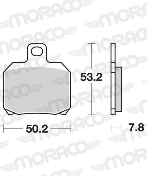 Plaquettes de frein moto SBS 730LS
