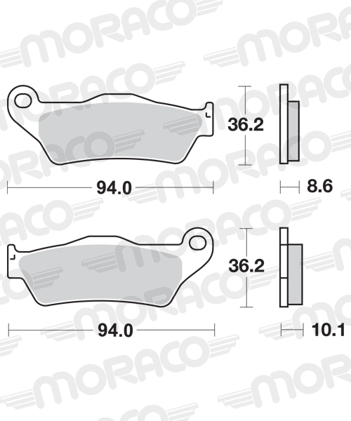 Plaquettes de frein moto SBS 742LS