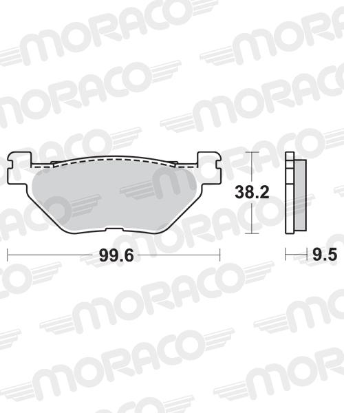 Plaquettes de frein moto SBS 769HF