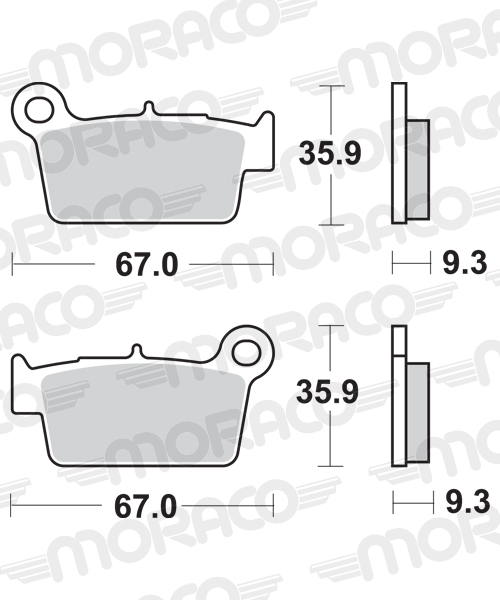 Plaquettes de frein moto SBS 790SI
