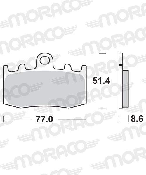 Plaquettes de frein moto SBS 796HS