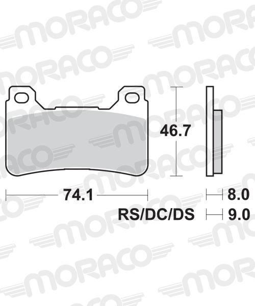 Plaquettes de frein moto SBS 809HS