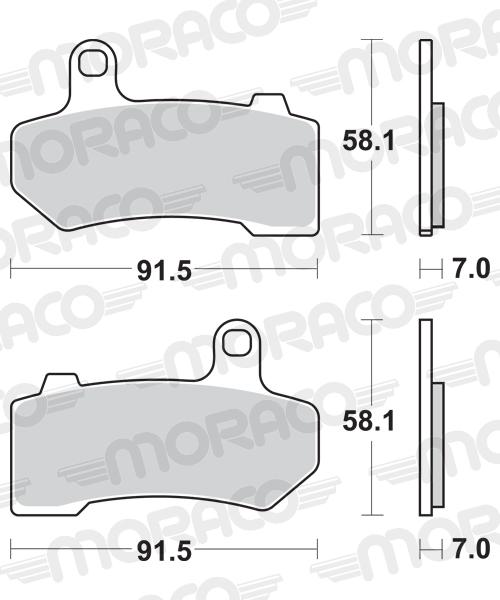 Plaquettes de frein moto SBS 830H.LS