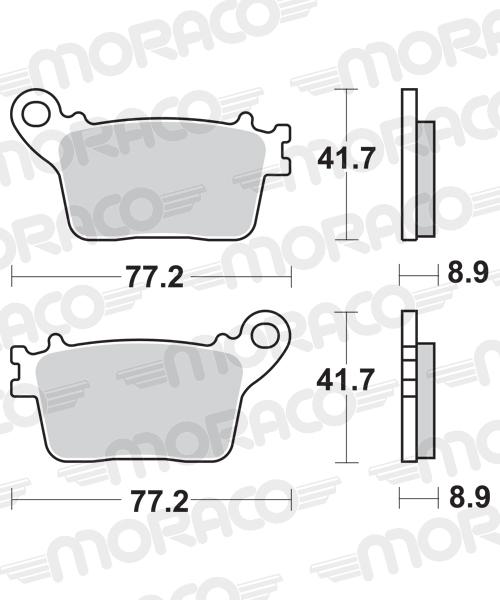 Plaquettes de frein moto SBS 834HF