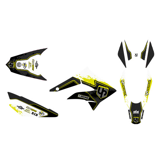 Kit Deco UP SPECTRUM DERBI DRD XTREME 11->16 noir