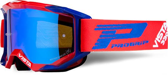 Lunettes Progrip 3303/18 Vista rouge/bleu