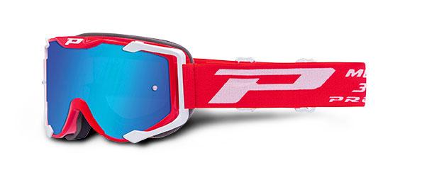 Lunettes Progrip 3400FL Multilayered Rouge-Blanc MENACE