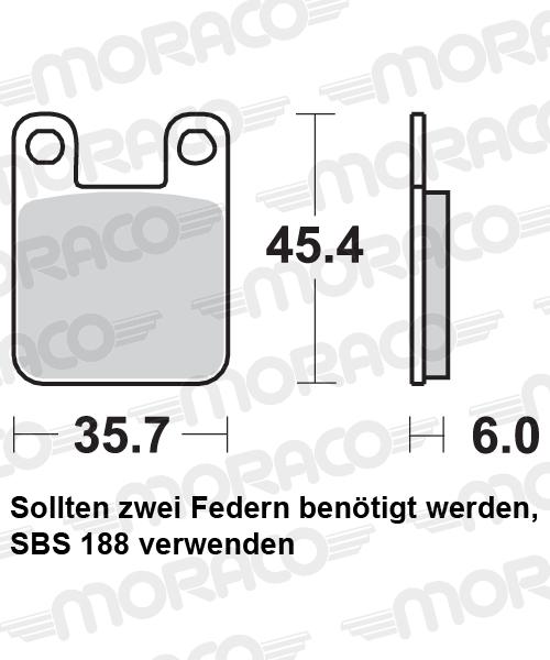 Plaquettes de frein scooter SBS 105HF