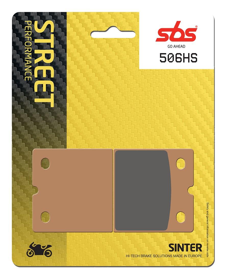 Plaquettes de frein moto SBS 506HS