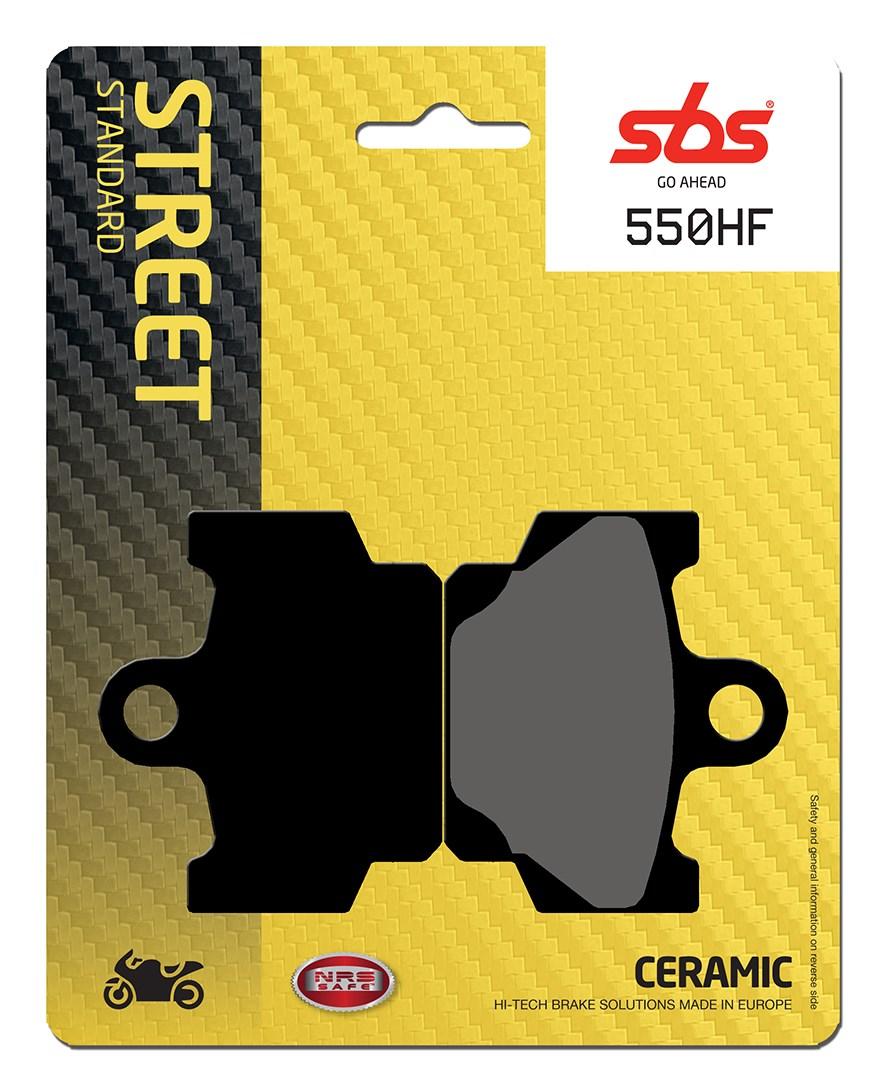 Plaquettes de frein moto SBS 550HF