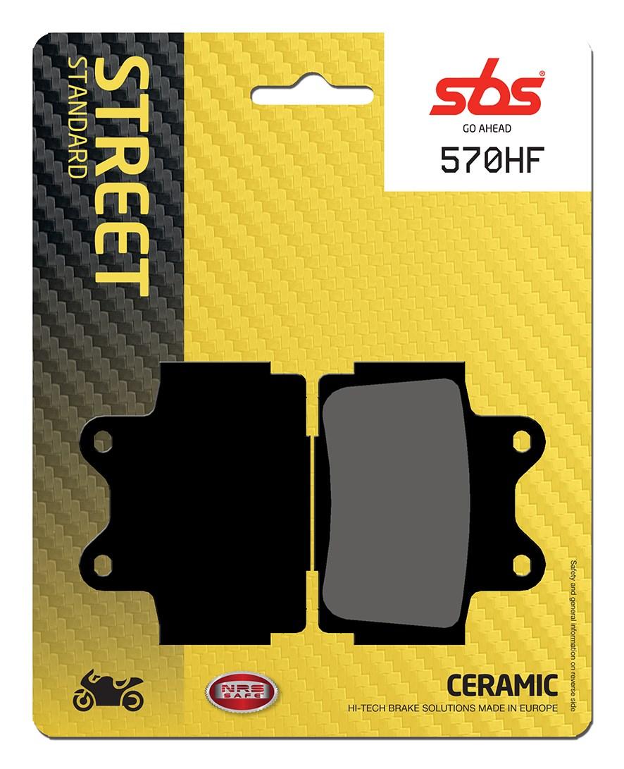 Plaquettes de frein moto SBS 570HF