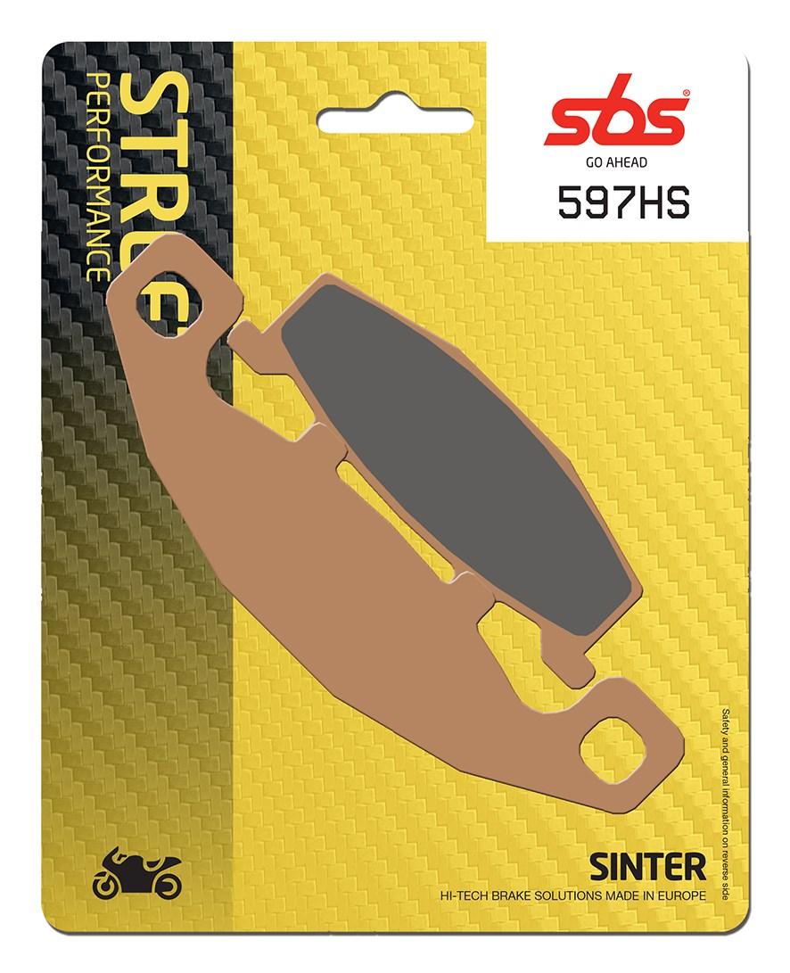 Plaquettes de frein moto SBS 597HS