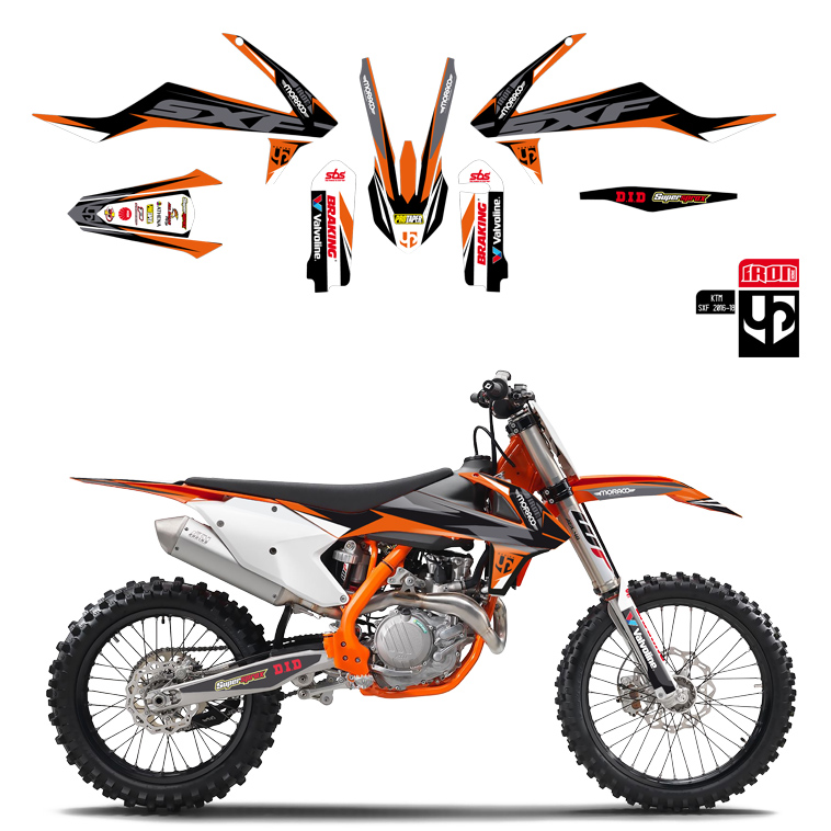 Kit Deco UP IRON KTM SX 65 2016-2018 ORANGE