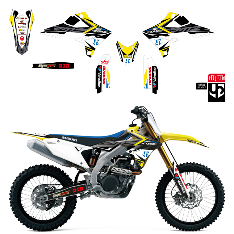 Kit Deco UP IRON SUZUKI RMZ 450 2008-2017 JAUNE