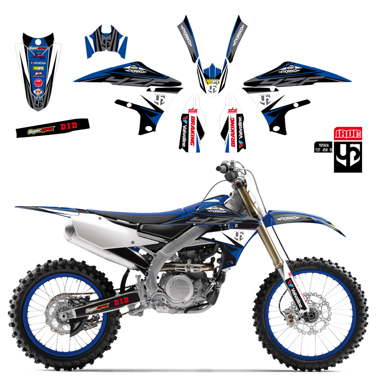 Kit Deco UP IRON YAMAHA YZ 125 - 250 2015-2018 BLEU