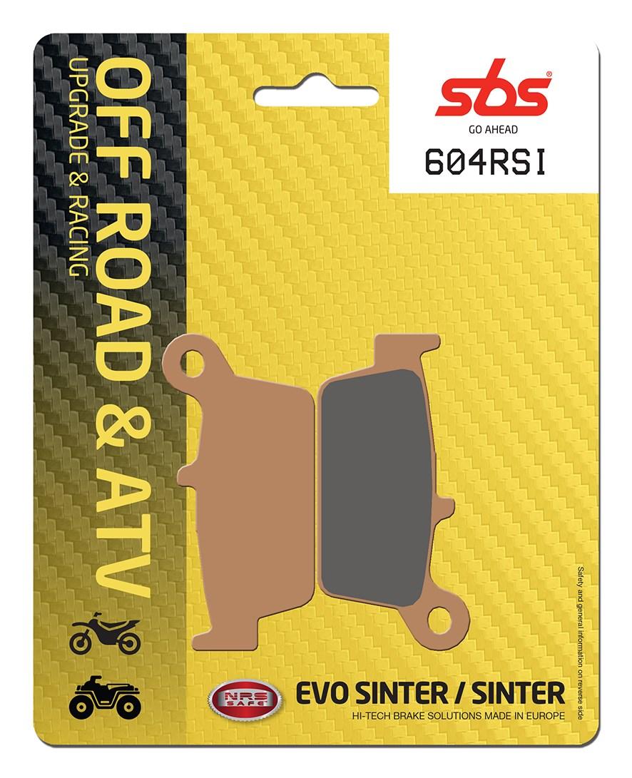 Plaquettes de frein moto racing SBS 604RSI
