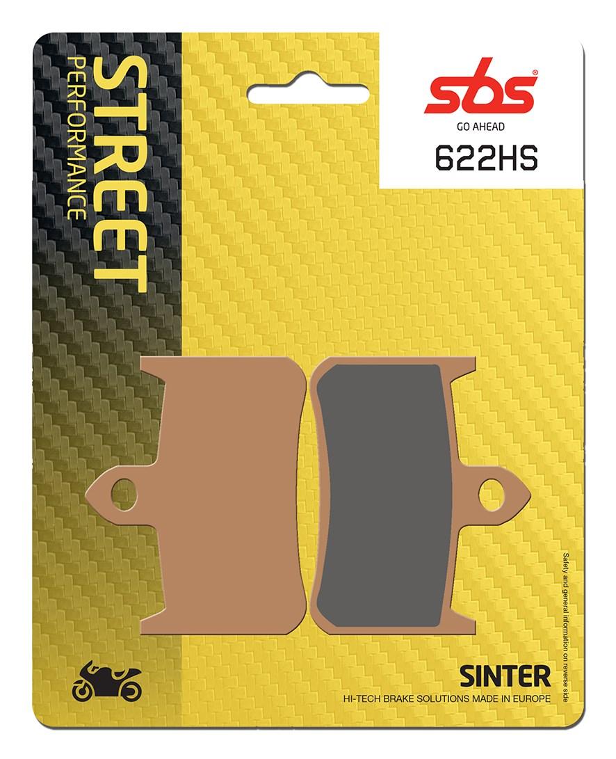 Plaquettes de frein moto SBS 622HS