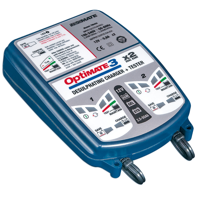 *OPTIMATE 3 x2 CHARGEUR-TEST. TM-450