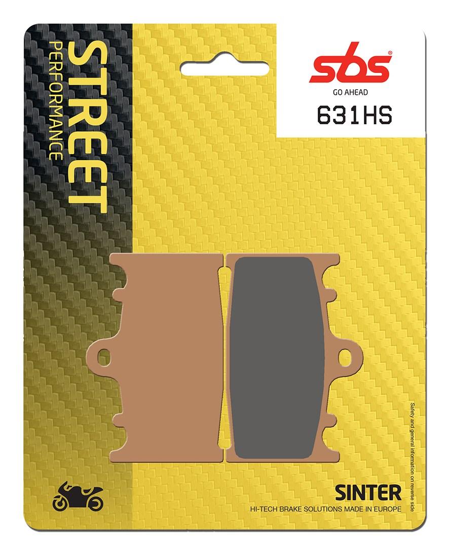 Plaquettes de frein moto SBS 631HS