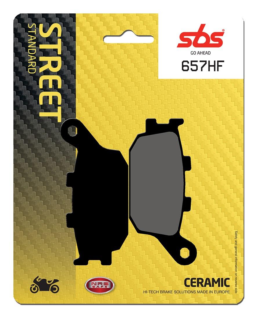 Plaquettes de frein moto SBS 657HF