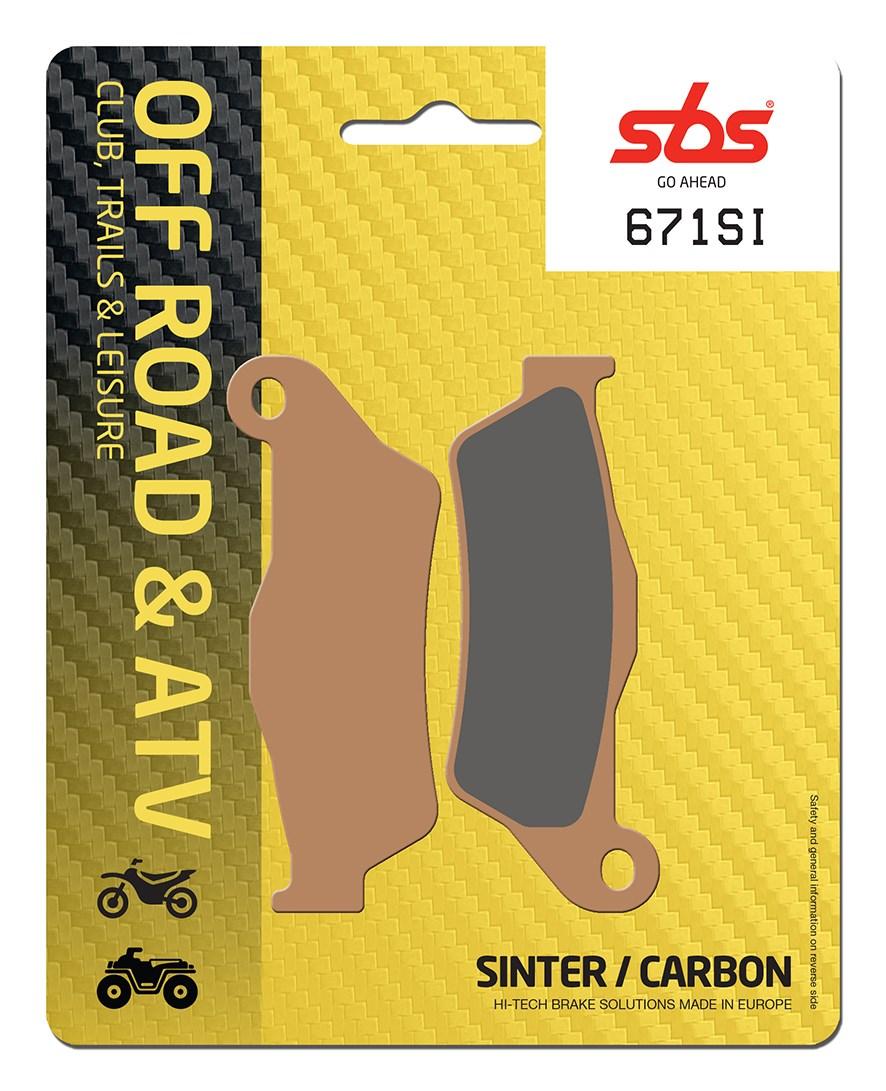 Plaquettes de frein moto SBS 671SI