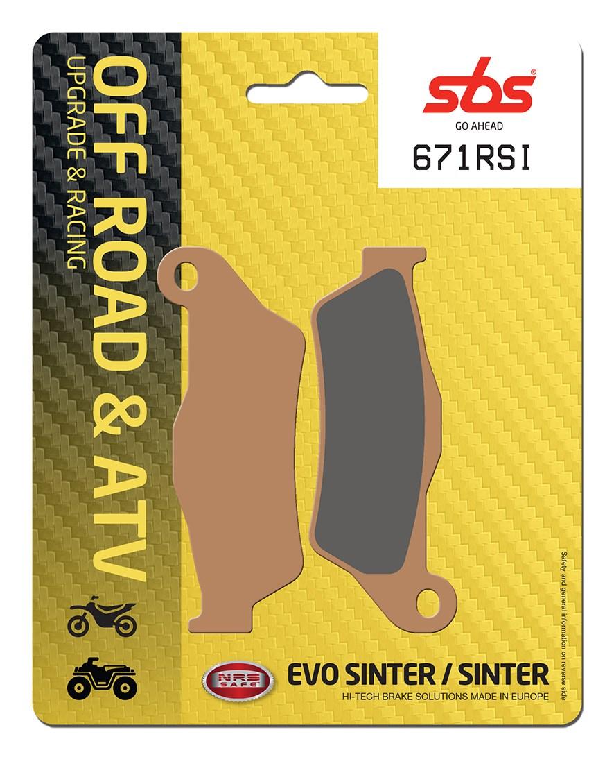 Plaquettes de frein moto racing SBS 671RSI
