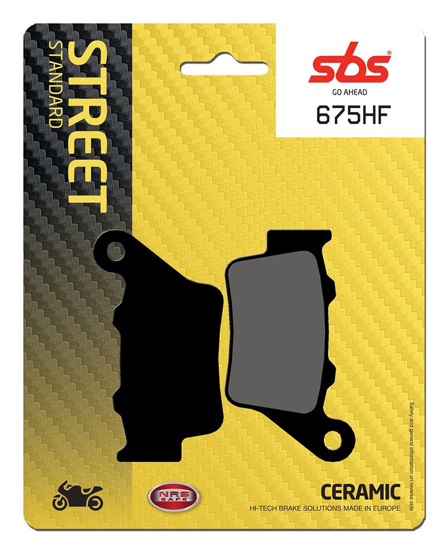 Plaquettes de frein moto SBS 675HF